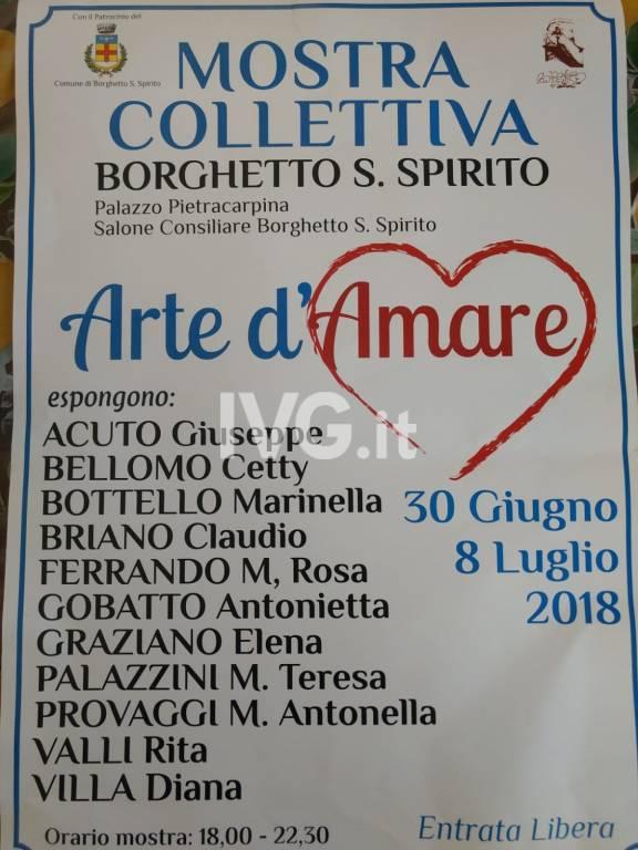 """Mostra di pittura collettiva \""""Arte D\'Amare\"""""""
