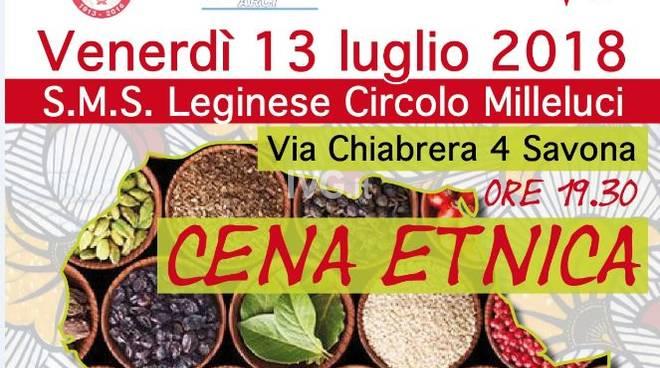 Venerdì sera alla SMS Leginese - Circolo ARCI Milleluci di Savona: cena etnica