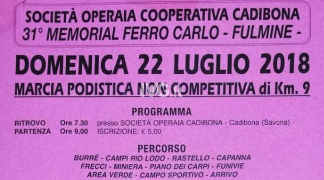 """Domenica a Cadibona il 31° Memorial Ferro Carlo \""""Fulmine\"""""""