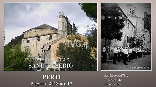 La Filarmonica alla festa patronale di S. Eusebio a Perti di Finale Ligure