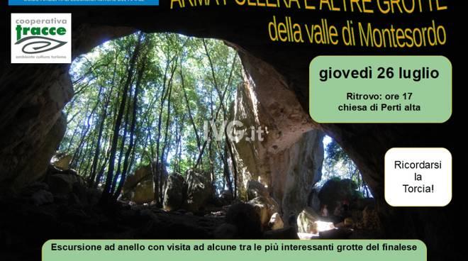 Arma Pollera e altre Grotte nella valle di Montesordo