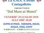 """Stasera alla SMS Circolo ARCI Cantagalletto secondo  appuntamento dell\'iniziativa \""""Dal mare ai monti\"""""""