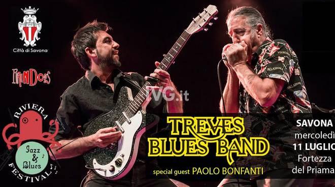 Domani sera al Priamar di Savona per il RIVIERA JAZZ & BLUES FESTIVA:  TREVES BLUES BAND + PAOLO BONFANTI