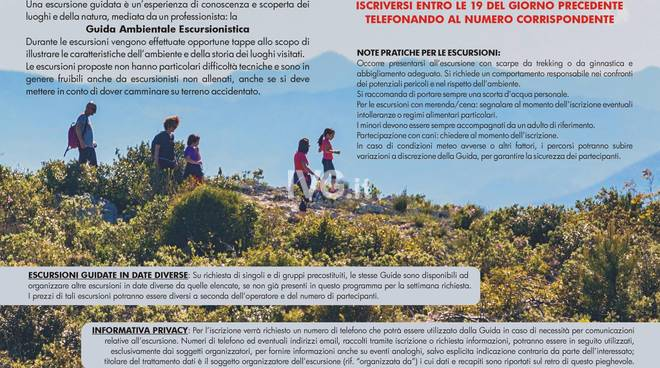 Finale Natura landscape e archeotrekking      Guide ambientali escursionistiche del Finale