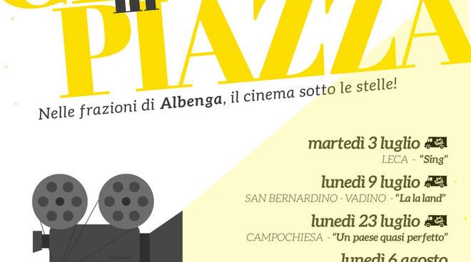 """""""Cinema sotto le Stelle"""" 2018 frazioni Albenga"""