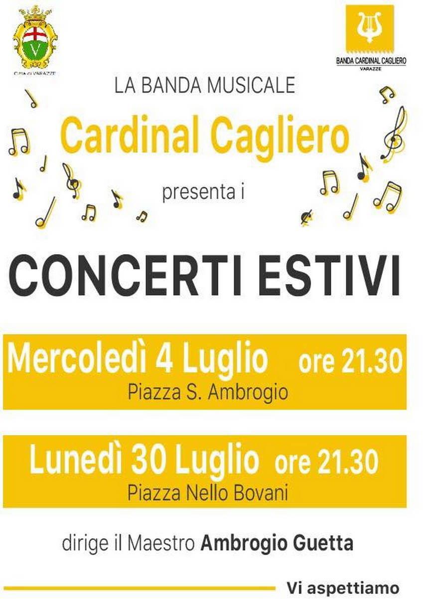 "Concerti estivi Banda Musicale ""Cardinal Cagliero"" Varazze"