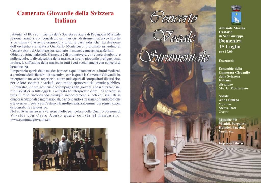 Concerto Camerata Giovanile Svizzera Italiana