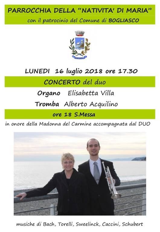 Concerto duo Elisabetta Villa - Alberto Acquilino Bogliasco