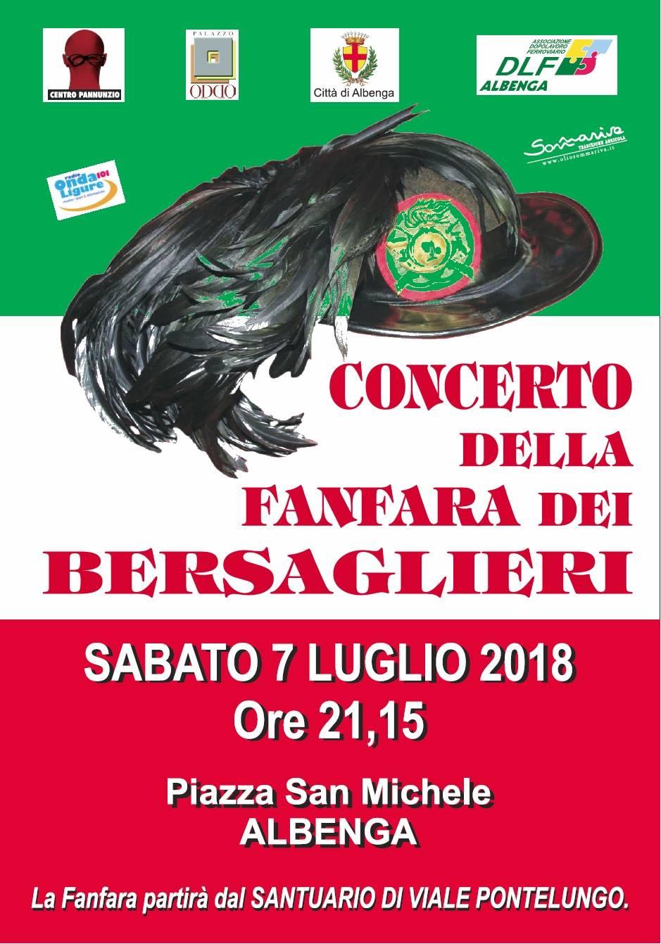 """Concerto Fanfara Bersaglieri """"Roberto Lavezzeri"""" Albenga"""