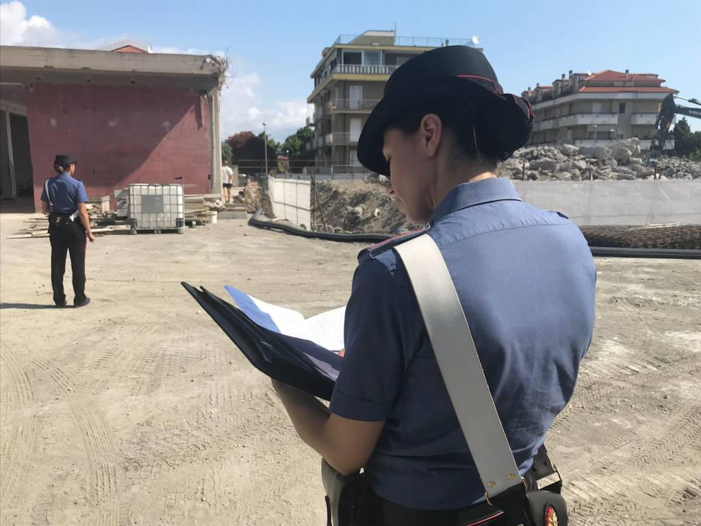controlli carabinieri cantiere