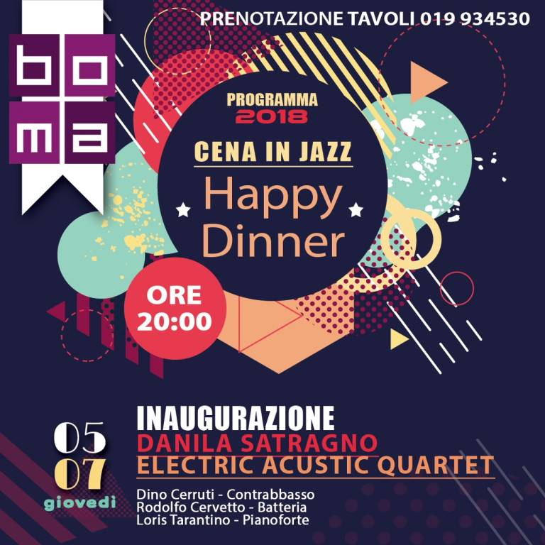 "Danila Satragno ""Happy Dinner - Cene in Jazz"" Varazze"