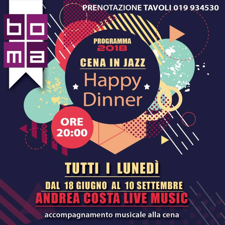 """Happy Dinner - Cene in Jazz"" Varazze"