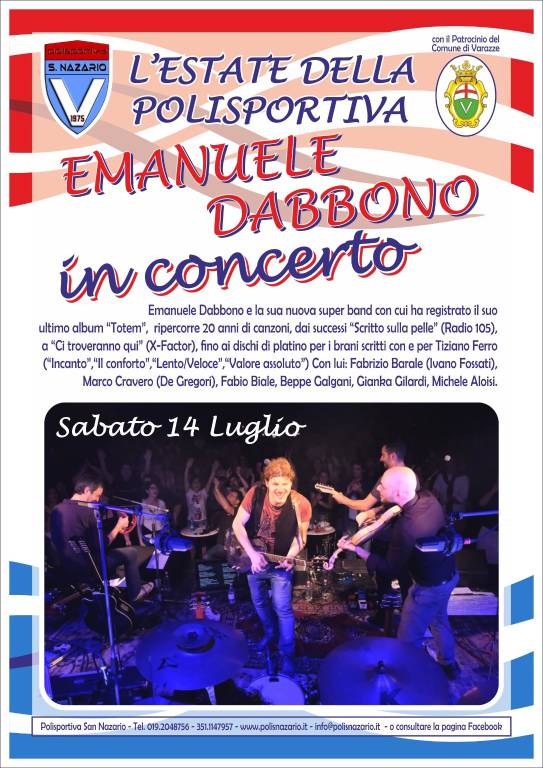 Eventi estate 2018 Polisportiva San Nazario Varazze