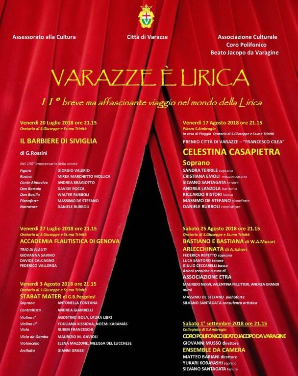 Festival Varazze è Lirica 2018