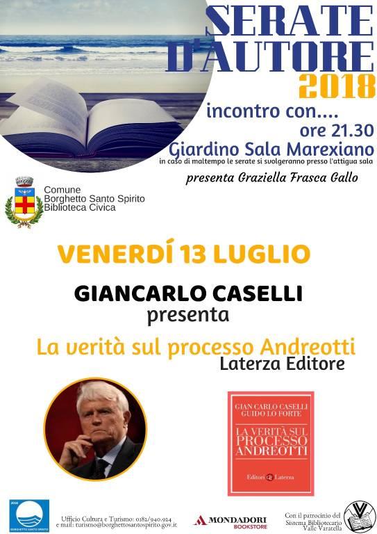 """Gian Carlo Caselli """"La verità sul processo Andreotti"""""""