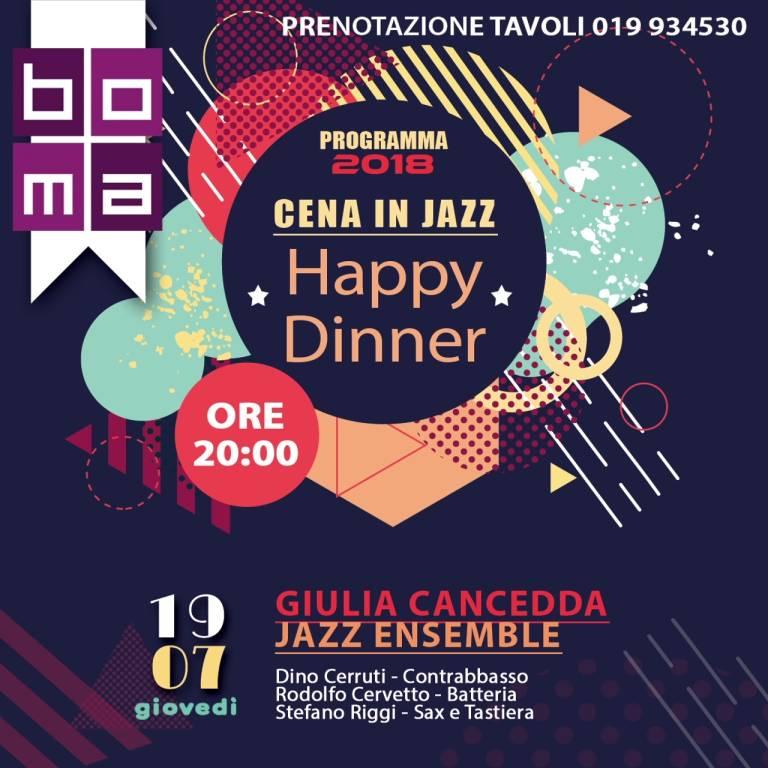 """""""Happy Dinner - Cene in Jazz"""" Boma Varazze 2018"""