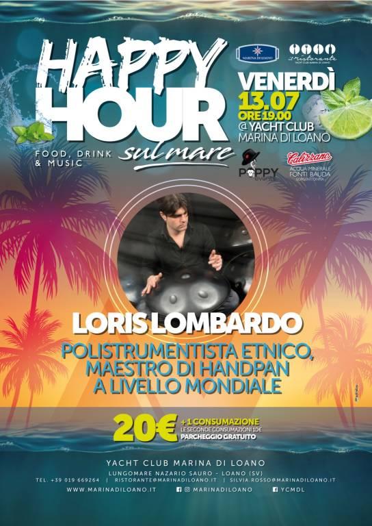 """""""Happy Hour sul Mare"""" percussionista Loris Lombardo"""