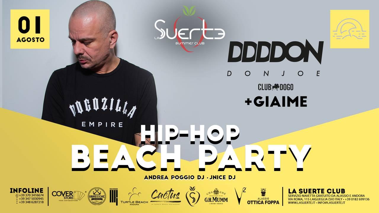 Hip-Hop Beach Party - Don Joe Club Dogo + Giaime La Suerte