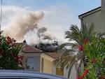 Incendio in un appartamento in via Puccini a Loano