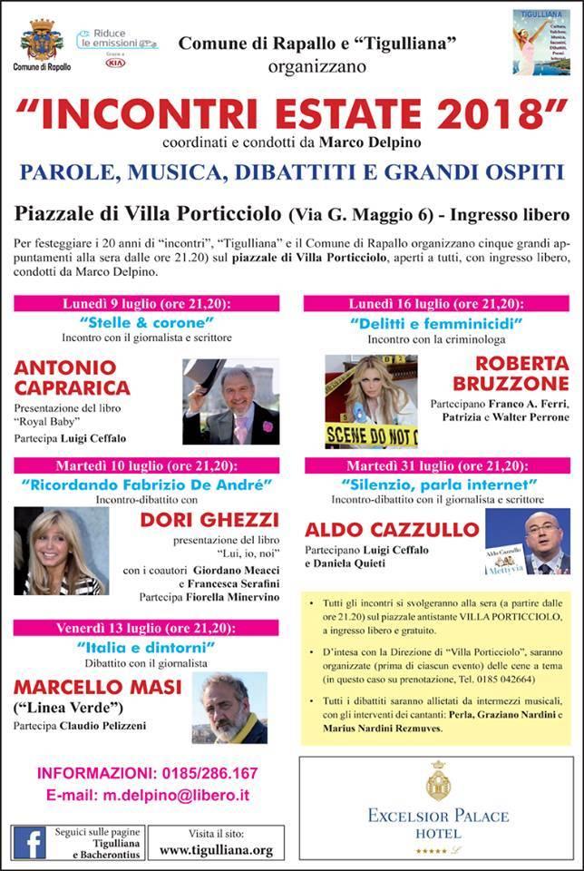 Incontri d'estate Rapallo 2018