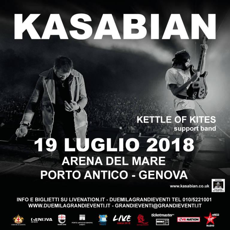 Kasabian concerto Porto Antico Genova