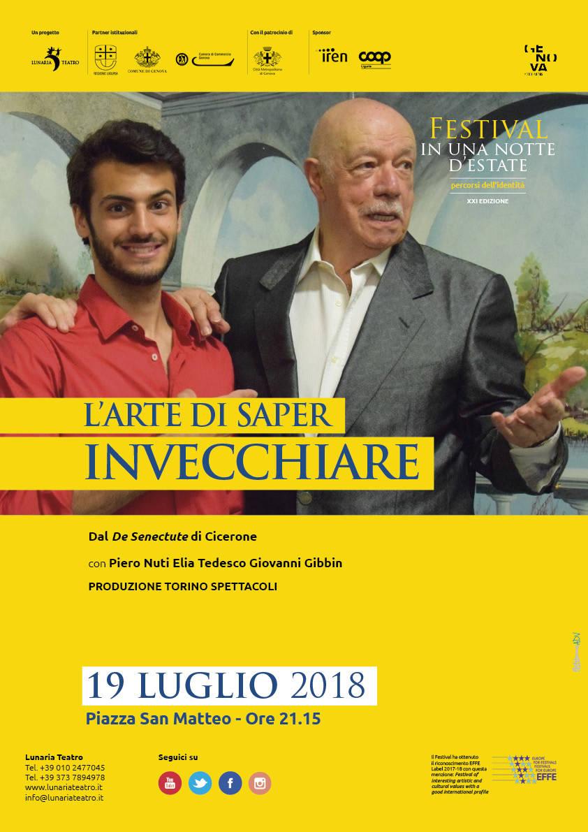 """""""L'arte di saper invecchiare"""" Piero Nuti Genova"""