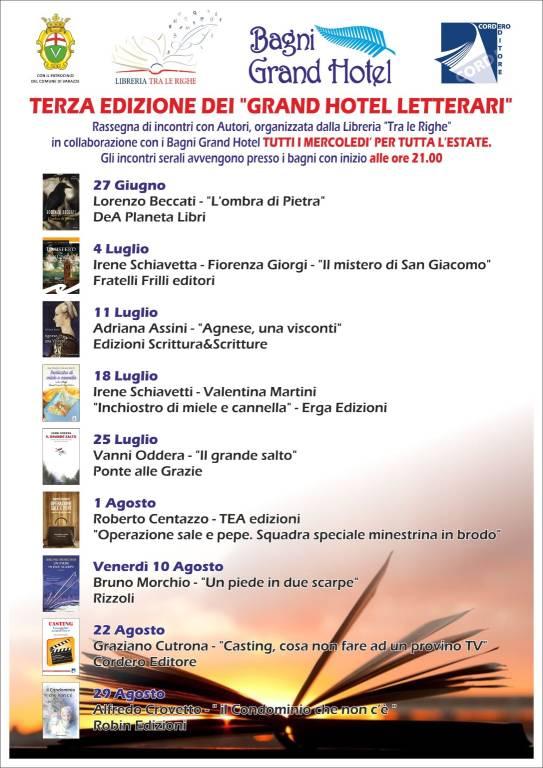 """Grand Hotel Letterari"" rassegna libri 2018"