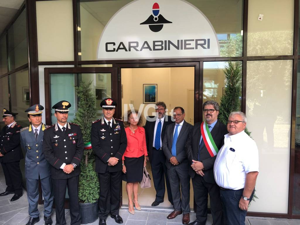 Loano, taglio del nastro per l'ufficio di Valico Marittimo dei carabinieri