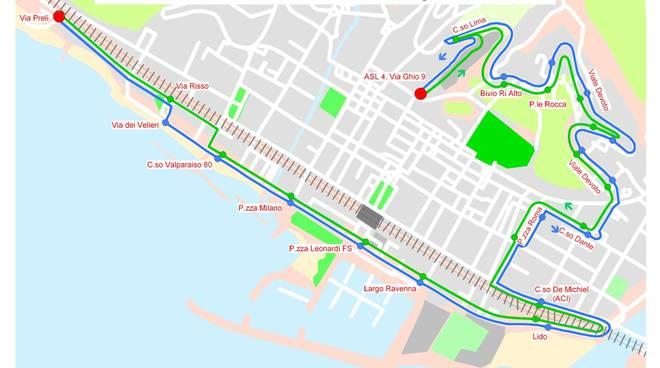 mappa servizio bus C2