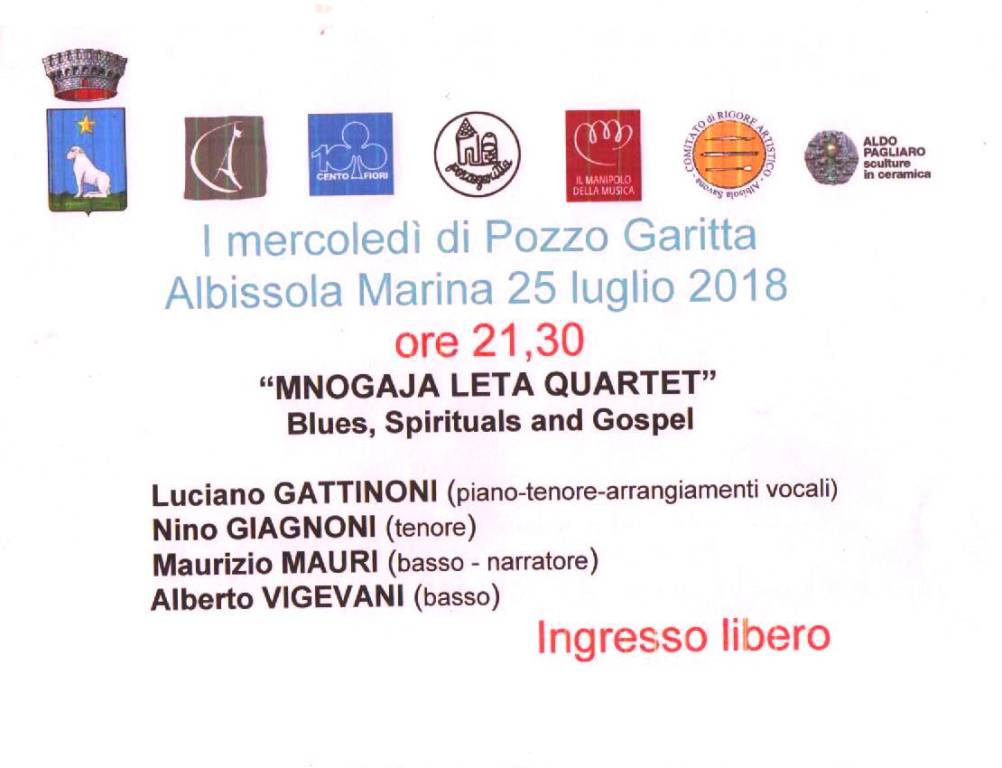 """Mnogaya Leta Quartet """"Mercoledì di Pozzo Garitta"""""""