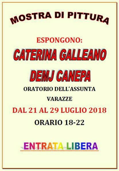 Mostra Demj Canepa e Caterina Galleano Varazze