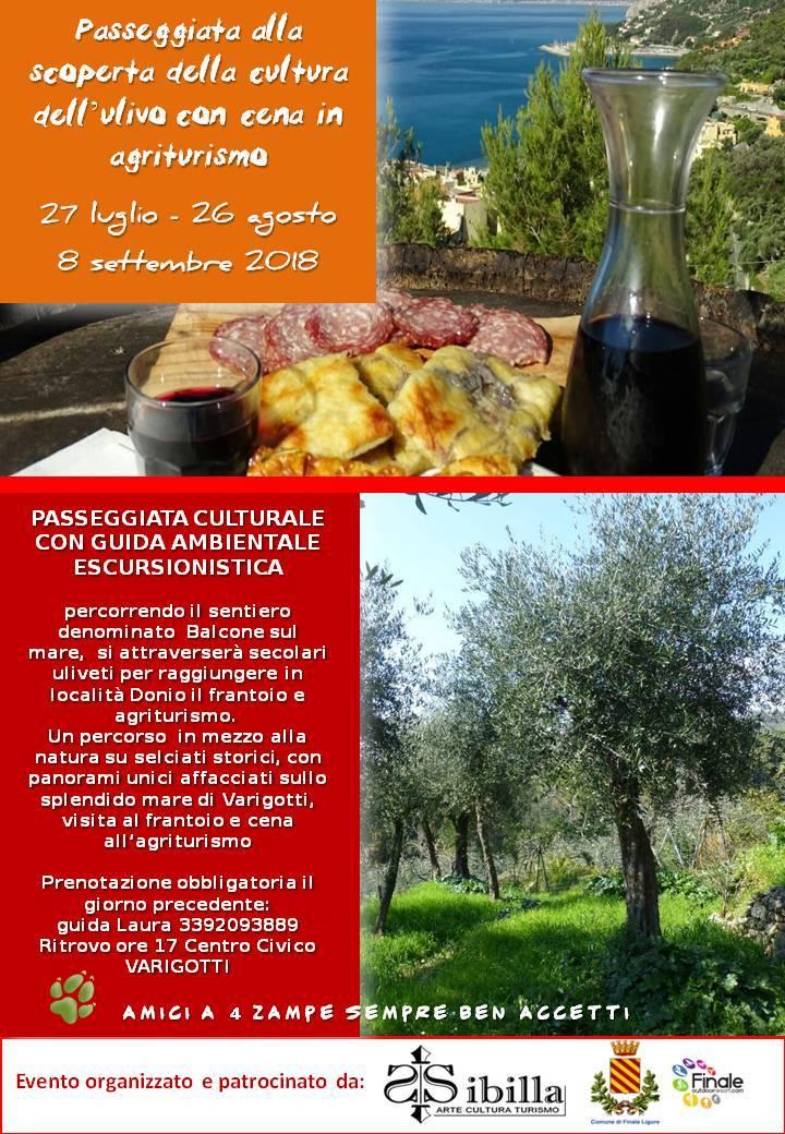 Passeggiata culturale olivo Finale Ligure