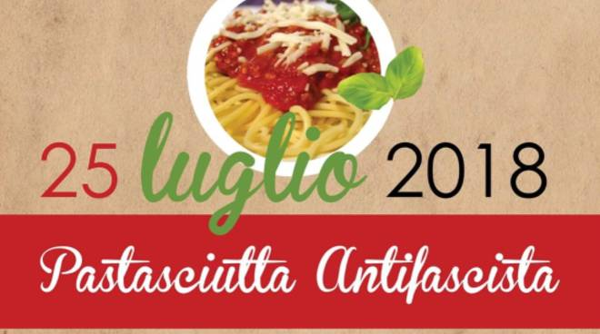 """""""Pastasciutta antifascista"""" 25 luglio 2018 Calice Ligure"""
