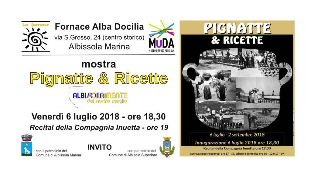 """Pignatte & Ricette"" mostra estate Fornace Albissola Marina"