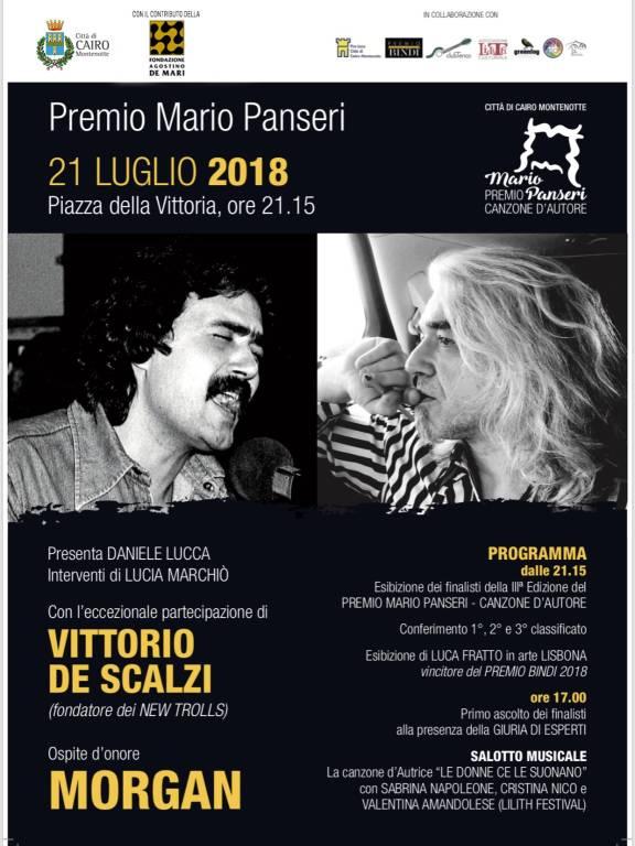 """Premio """"Mario Panseri"""" Canzone d'Autore Cairo Montenotte 2018"""