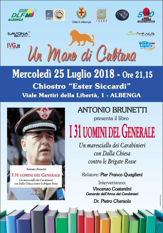 """Presentazione libro """"I 31 uomini del Generale"""" Albenga"""