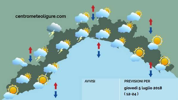 previsioni meteo 5 luglio