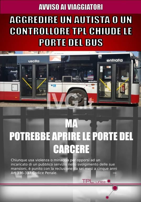 Pubblicità Tpl sicurezza autobus