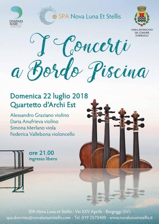 """Quartetto d'Archi Est """"Concerti a Bordo Piscina"""" Bergeggi"""