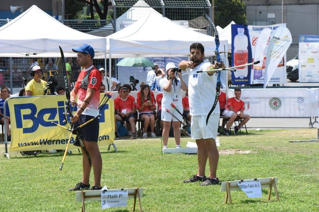 Saber Ben Fekih Ali  tiro con l'arco