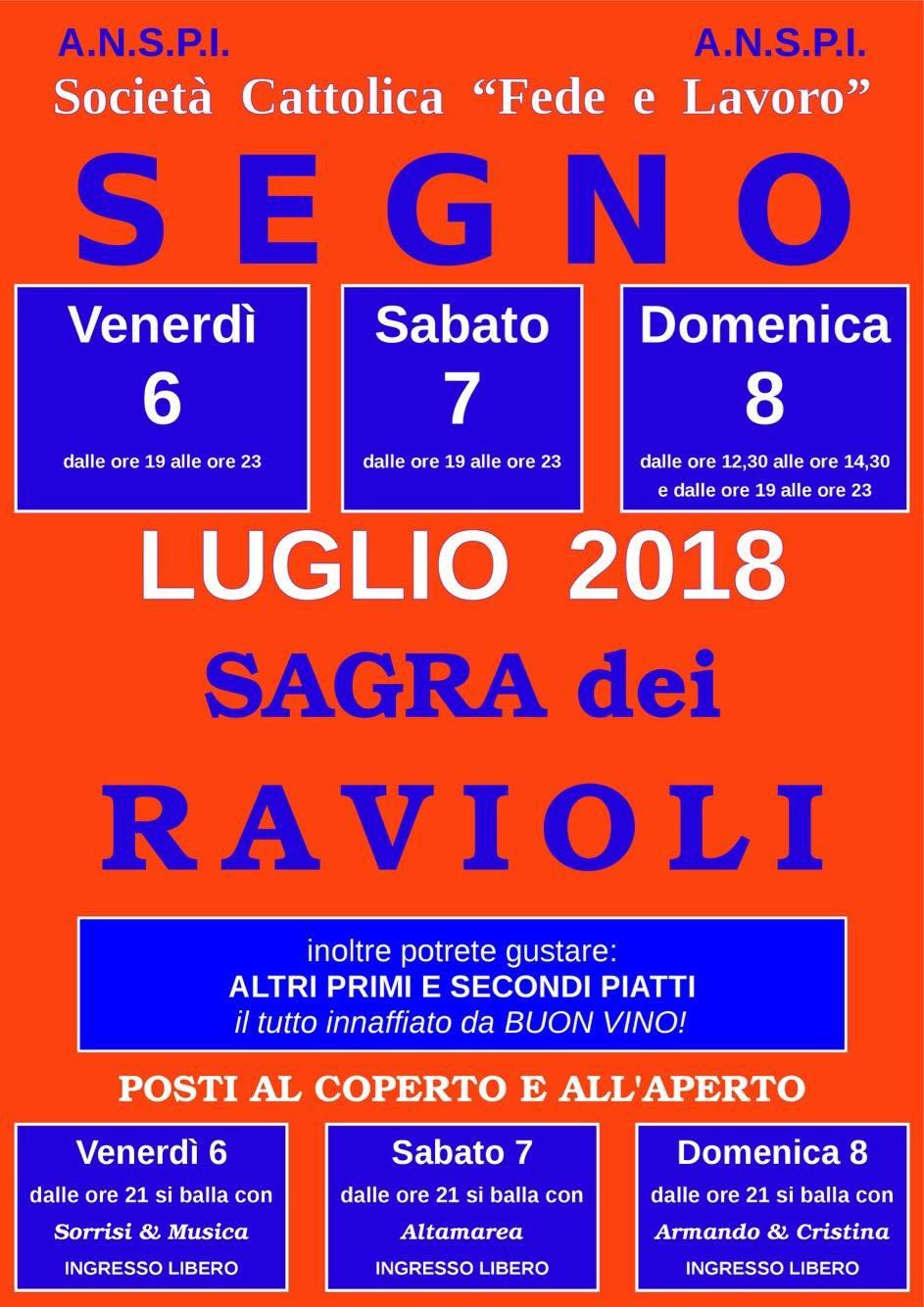 Sagra dei Ravioli 2018 Segno Vado Ligure