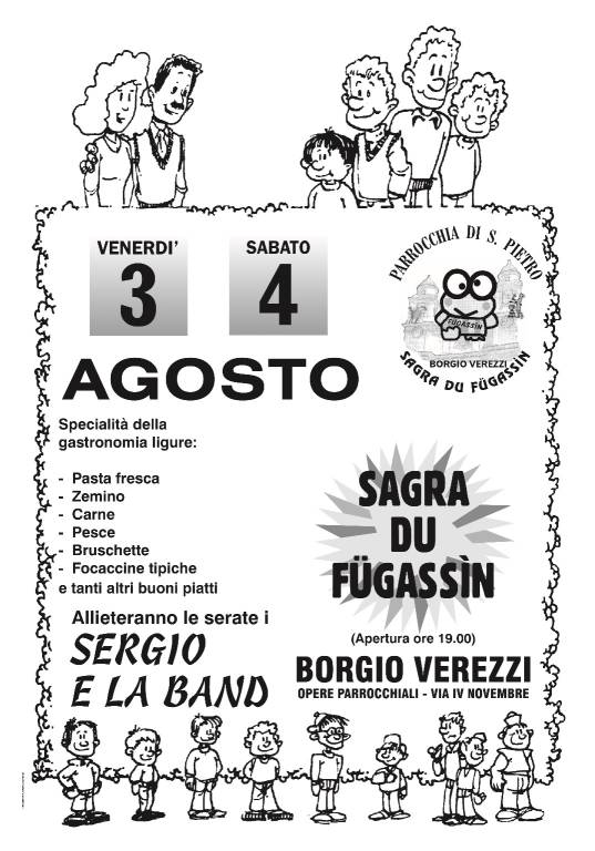 Sagra du Fugassin agosto 2018 Borgio Verezzi
