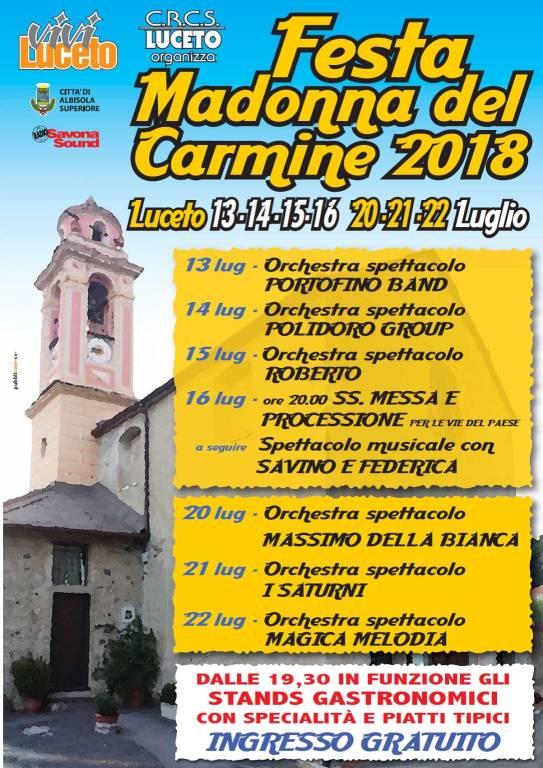 Sagra Nostra Signora del Carmine Albisola Superiore 2018