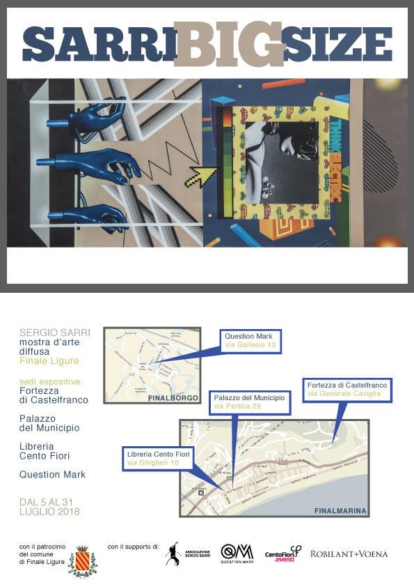 """""""Sarri Big Size"""" mostra d'arte diffusa Segio Sarri"""