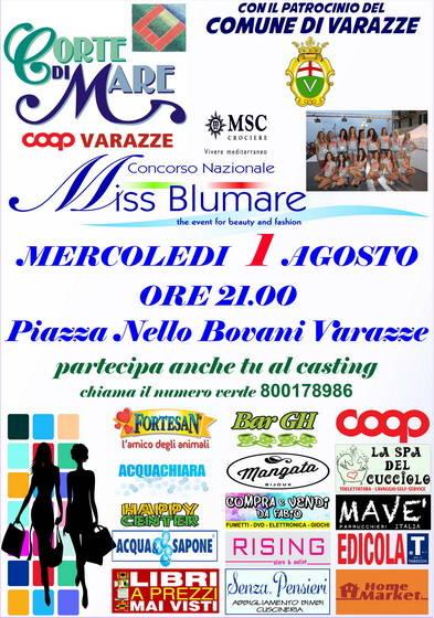 Selezione Miss Blumare 2018 Varazze