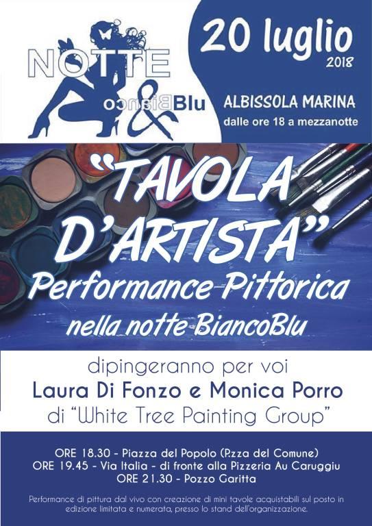 Tavola d'artista Notte BiancoBlu Albissola Marina
