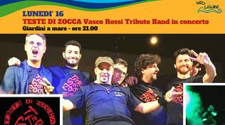 Teste di Zocca Vasco Rossi Tribute Band concerto Vado Ligure