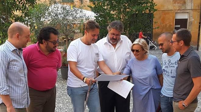 Vaccarezza e consiglieri forzisti Albenga