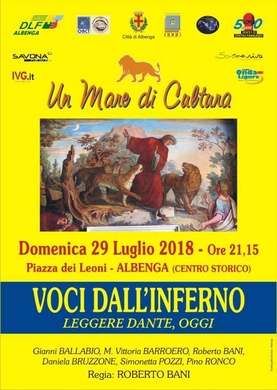 """Voci dall'Inferno"" - Leggere Dante, oggi Albenga"
