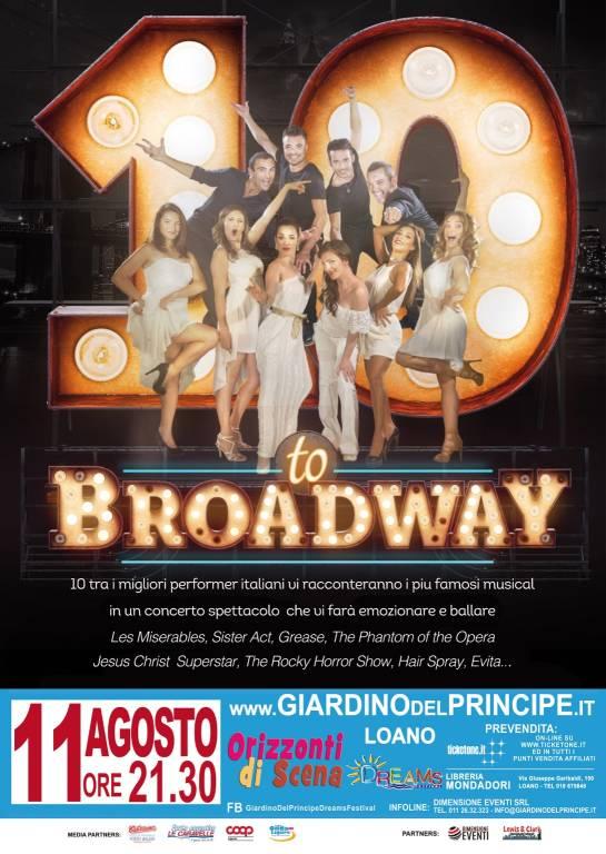 10 to Broadway gruppo vocale spettacolo Loano